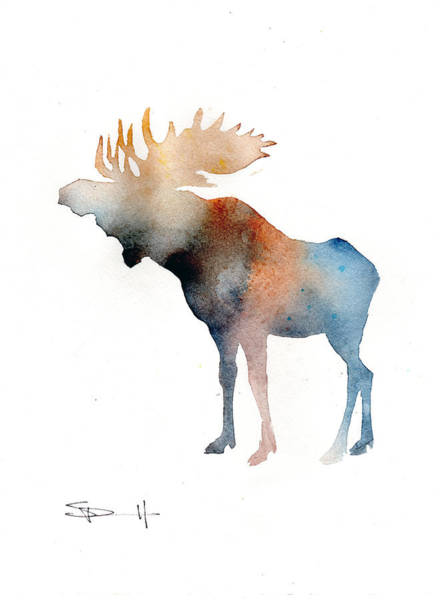 Painting - Blue Moose by Sean Parnell