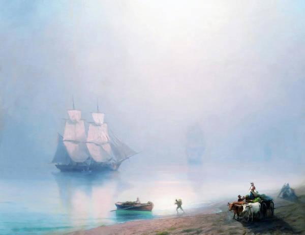 Mixed Media - Blue Morning Bliss  by Isabella Howard