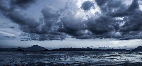 Photograph - Blue Morning Taal Volcano Philippines by Michael Arend