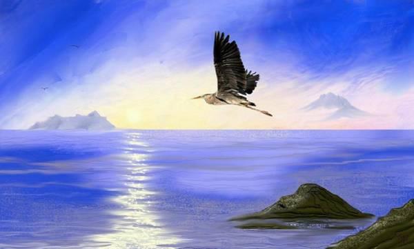 Digital Art - Blue Morning by Tony Rodriguez
