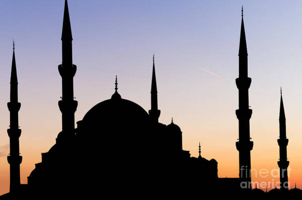 Sultan Ahmet Camii Wall Art - Photograph - Blue Mosque, Istanbul, Sunset by Marylinda Ramos