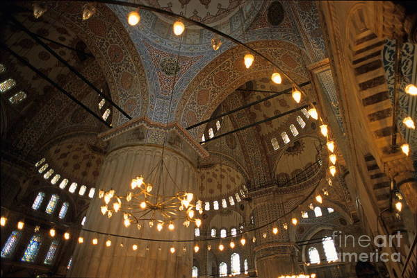Wall Art - Photograph - Blue Mosque Interior by Sami Sarkis