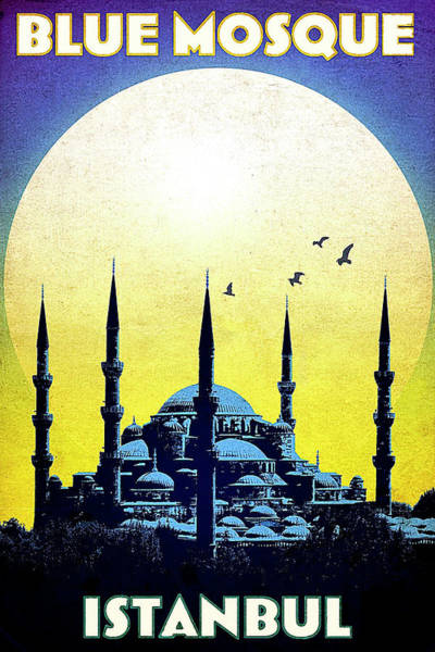 Istanbul Painting - Blue Mosque, Istanbul, Turkey by Long Shot