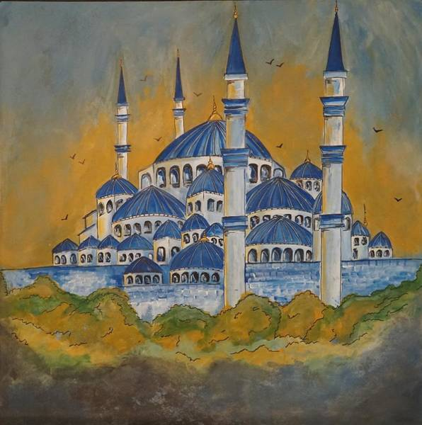 Sultan Ahmet Camii Wall Art - Painting - Blue Mosque by Soni Malik