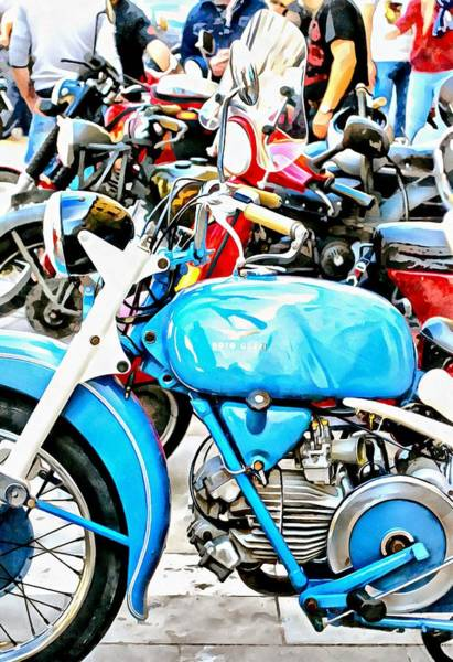 Photograph - Blue Moto Guzzi And Friends by Dorothy Berry-Lound
