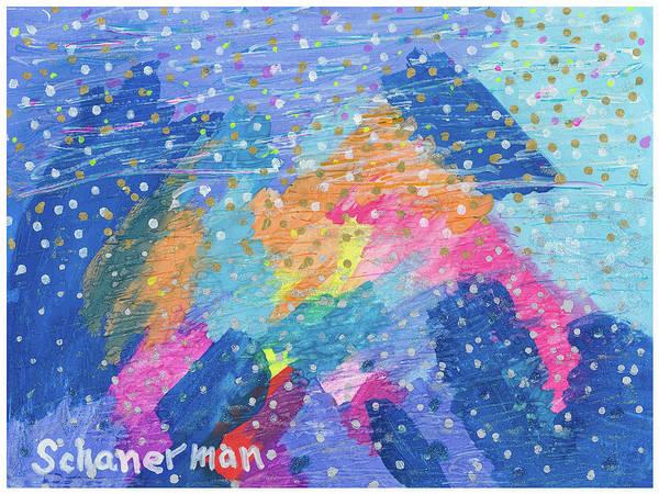 Painting - Blue Mountain Mayhem by Susan Schanerman