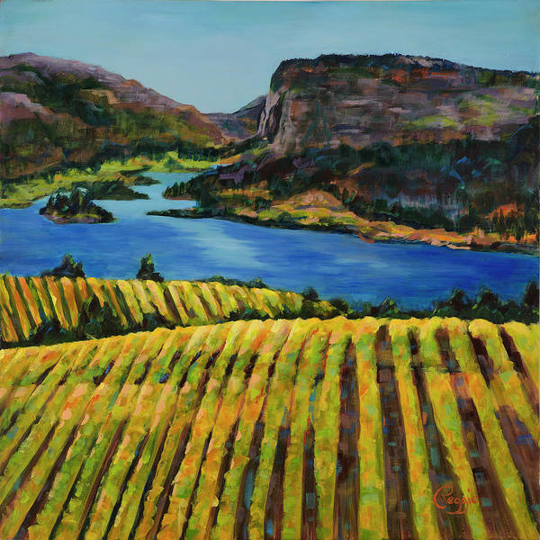 Okanagan Valley Painting - Blue Mountain View by Peggie Collins