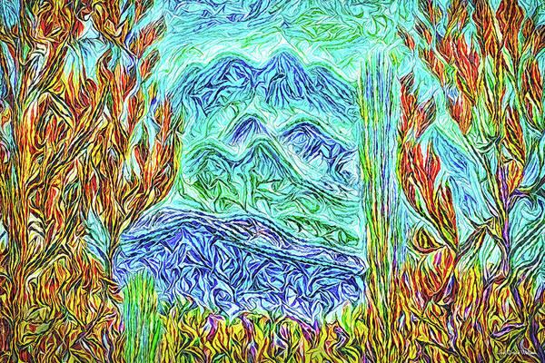 Digital Art - Blue Mountain Visions by Joel Bruce Wallach