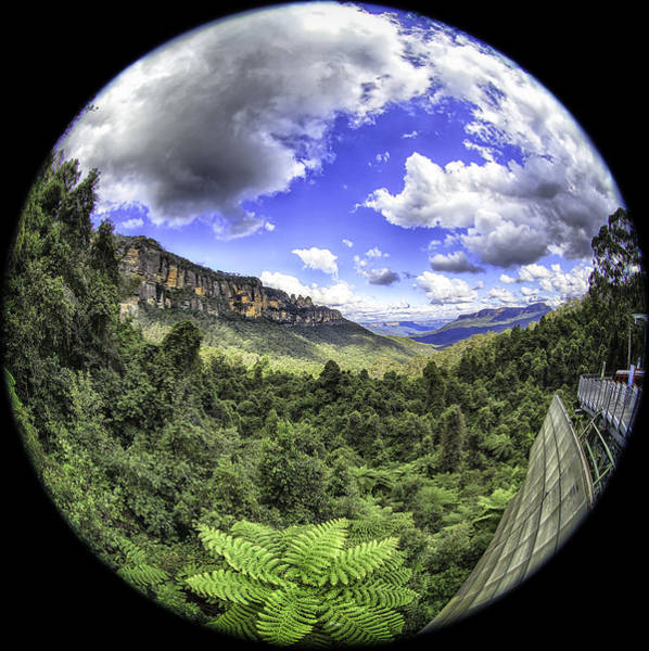Photograph - Blue Mountains Fisheye by Chris Cousins