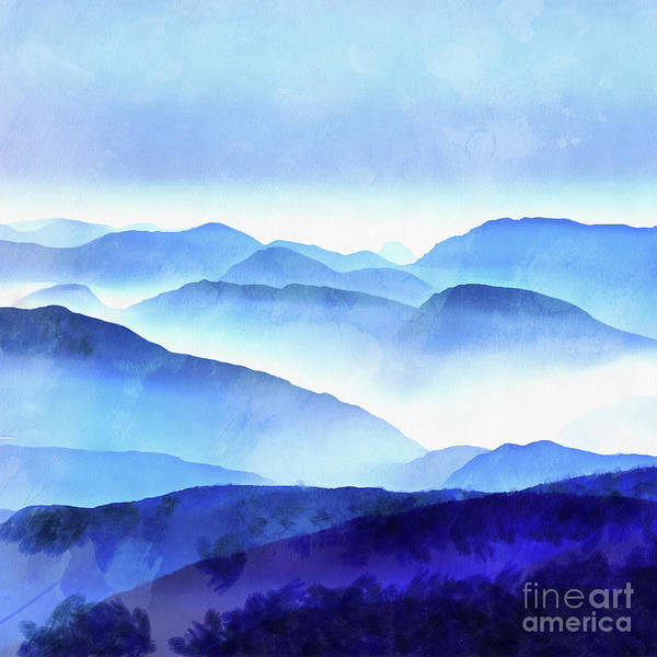 Wall Art - Painting - Blue Mountains Square by Edward Fielding