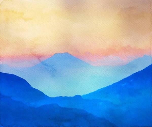 Blue Mountains Watercolour Art Print