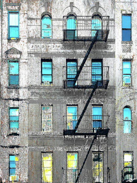 Mixed Media - Blue Neighbors by Tony Rubino