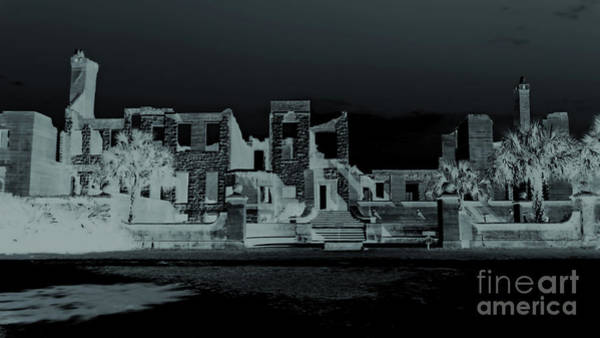 Photograph - Blue Night At The Ruins by D Hackett