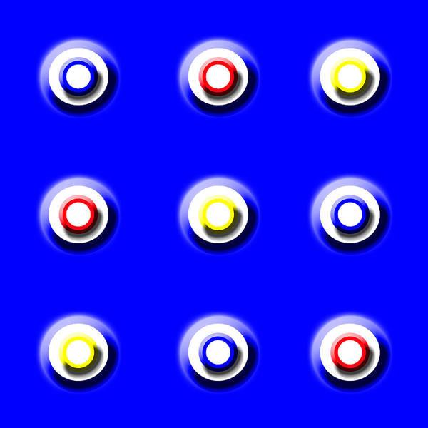 Blue Nine Squared Art Print