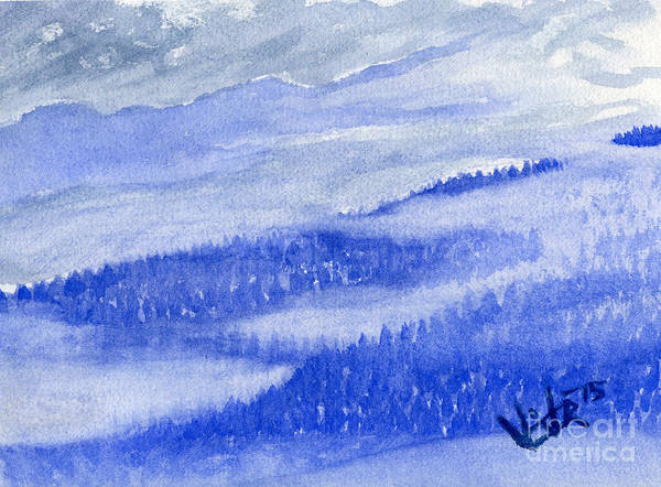 Painting - Blue Noon In Western Montana by Victor Vosen