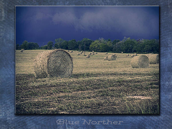 Photograph - Blue Norther Background by Charles McKelroy