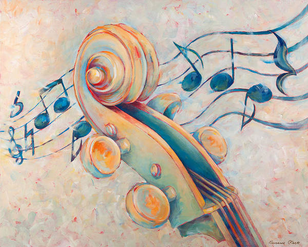 Wall Art - Painting - Blue Notes by Susanne Clark