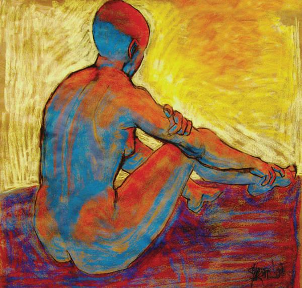 Blue Nude Art Print by Ilene Skeen
