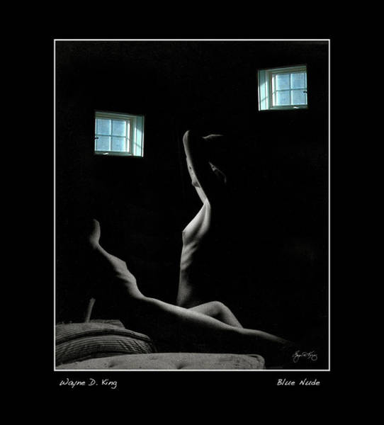 Photograph - Blue Nude Poster by Wayne King