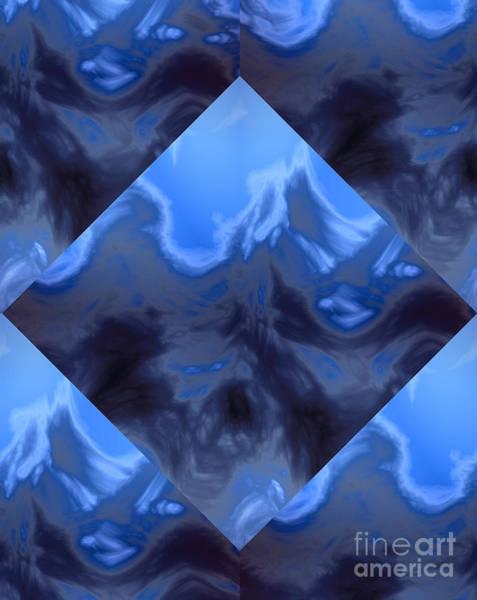 Granite Digital Art - Blue Ocean On Granite by Heinz G Mielke