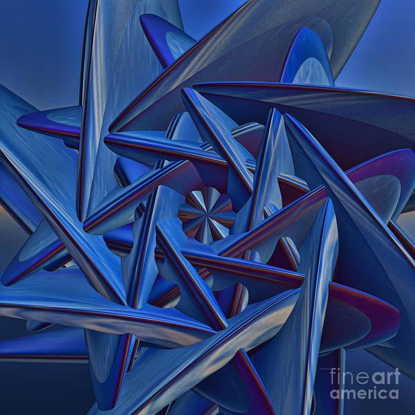 Generative Painting - Blue On Blue by Deborah Benoit