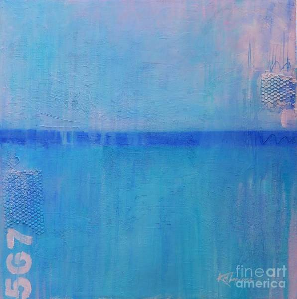 Wall Art - Painting - Blue On Blue by Kate Marion Lapierre