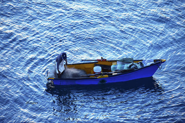 Photograph - Blue On Blue Manzanillo Harbor Mexico by Floyd Snyder