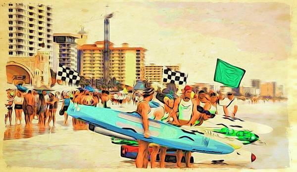 Photograph - Blue On Daytona's Beach by Alice Gipson