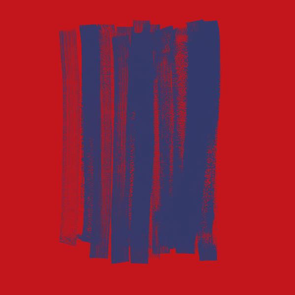 Wall Art - Painting - Blue On Red by Julie Niemela
