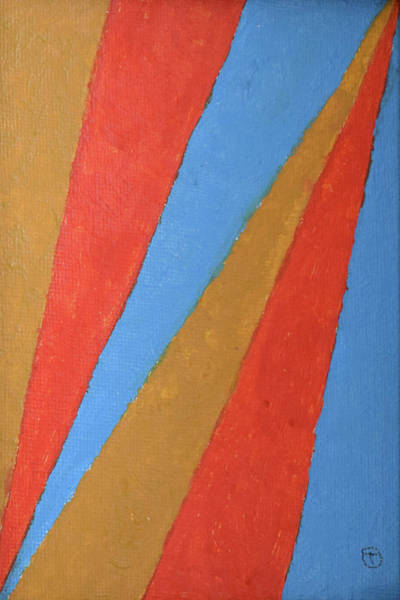 Painting - Blue Orange And Ochre by Thomas Olsen