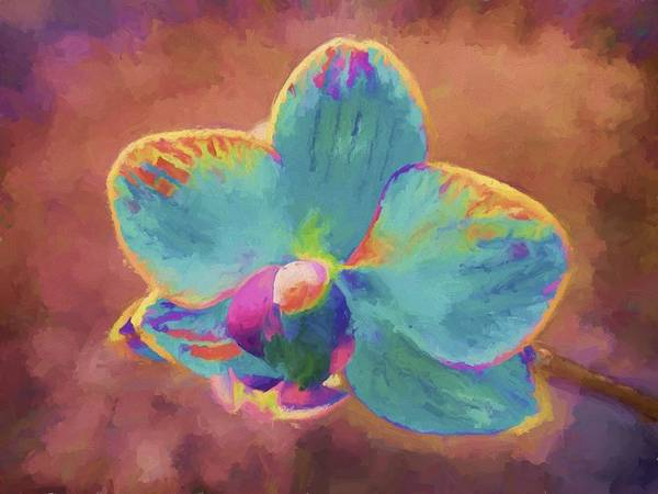 Painting - Blue Orchid In Watercolour by Shabby Chic and Vintage Art