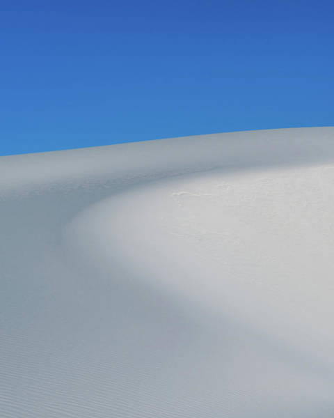 White Sand Photograph - Blue Over White by Joseph Smith
