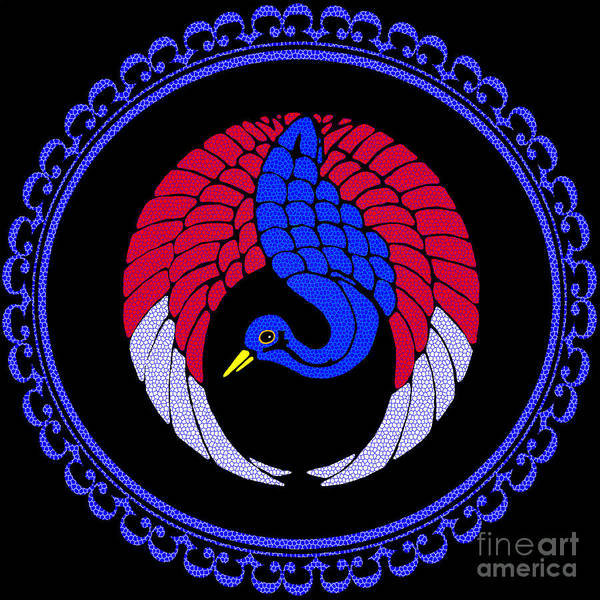 White Peacock Painting - Blue Peacock by Methune Hively