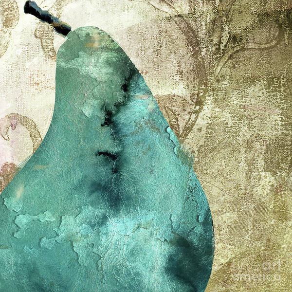 Wall Art - Painting - Blue Pear by Mindy Sommers