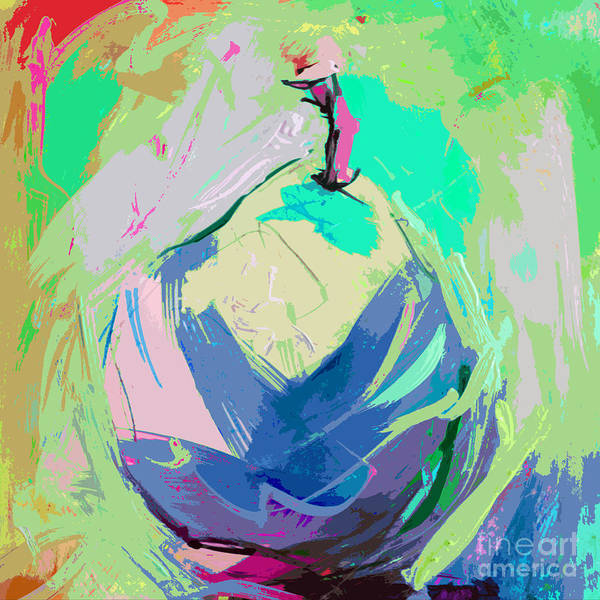 Painting - Blue Pear by Tracy-Ann Marrison