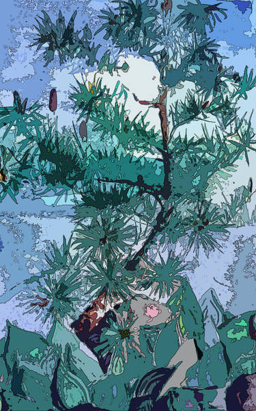 Wall Art - Painting - Blue Pine  by Mindy Newman