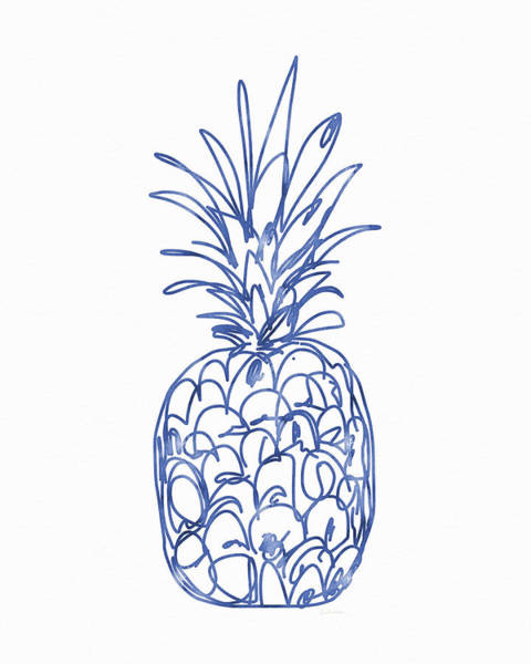 Fruit Painting - Blue Pineapple- Art By Linda Woods by Linda Woods