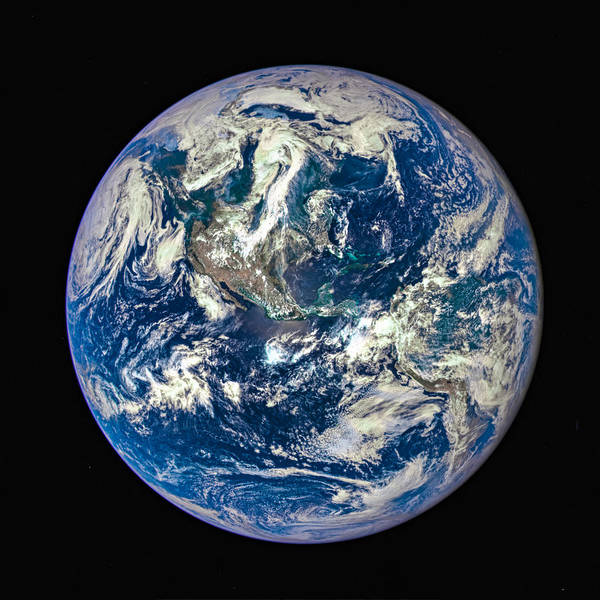 Photograph - Blue Planet Earth Seen From Space by Matthias Hauser