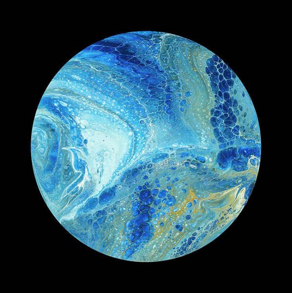 Painting - Blue Planet On Black by Darice Machel McGuire