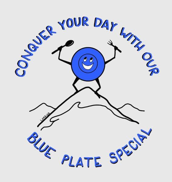 Digital Art - Blue Plate Special  by Lorrisa Dussault