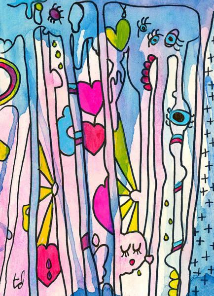 Blue Play Art Print