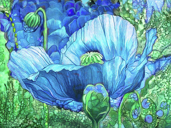 Mixed Media - Blue Poppy Garden by Carol Cavalaris