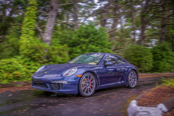 Photograph - Blue Porsche  by Bill Posner