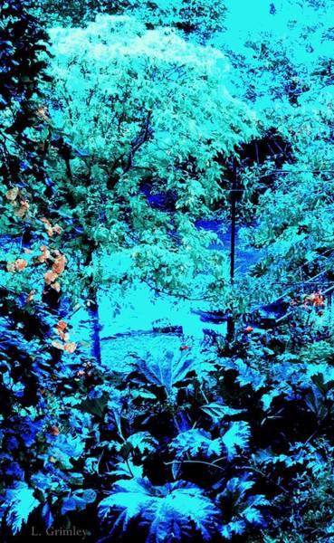 Wall Art - Digital Art - Blue Portal by Lessandra Grimley