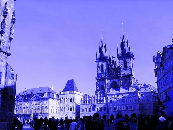 Photograph - Blue Praha by Michelle Dallocchio