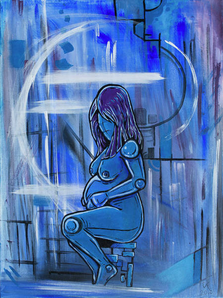 Pregnancy Painting - Blue Pregnancy by Chase Fleischman
