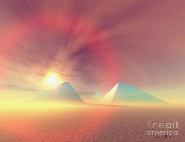 Wall Art - Painting - Blue Pyramids by Corey Ford