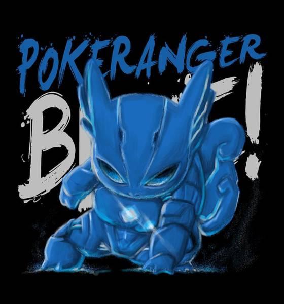 Pokes Wall Art - Digital Art - Blue Ranger 2017 by Hinakirei