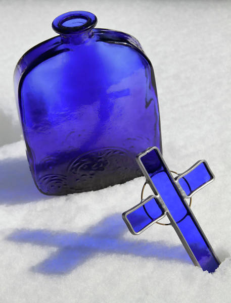Alabaster Photograph - Blue Reflections On Snow by Tony Grider