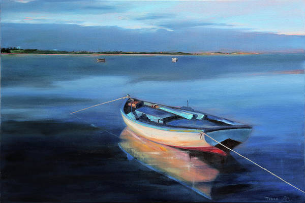 Painting - Blue Refuge by Trina Teele